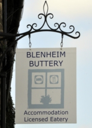 The Blenheim Buttery sign