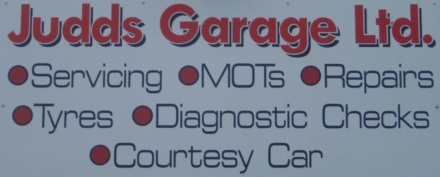 Judds Garage sign