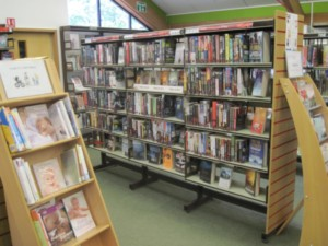 Woodstock Library shelves