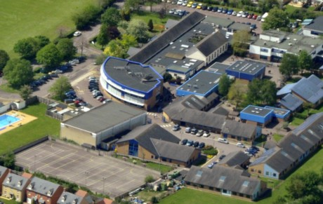 The Marlborough School aerial view