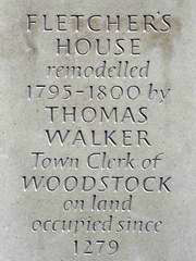 Fletchers House plaque