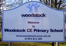 Woodstock CE Primary School sign