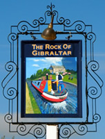 The Rock of Gibraltar sign
