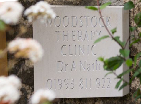 Woodstock Therapy Clinic sign